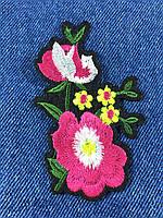 Нашивка Цветок 5 бутонов 57x90мм