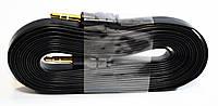 Аудио-кабель AUX 3.5 jack/M/M (лапша толстая) 3 метра, удлинитель aux jack 3.5 mm!Опт