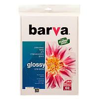 Фотобумага Barva, глянцевая, A4, 200 г/м2, 60 л (IP-CE200-231)