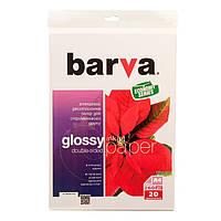 Фотобумага Barva, глянцевая, двуxсторонняя, A4, 260 г/м2, 20 л (IP-GE260-234)