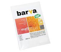 Фотобумага Barva, матовая, A6 (10x15), 220 г/м2, 20 л (IP-AE220-223)