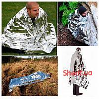 Термозащитное спасательное одеяло Max Fuchs (213х132см), silver  27133