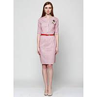 Коттоновое летнее платье офисного стиля, р.44-46 код 2646М