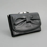 Кошелек кожаный женский черный Prensiti 42003