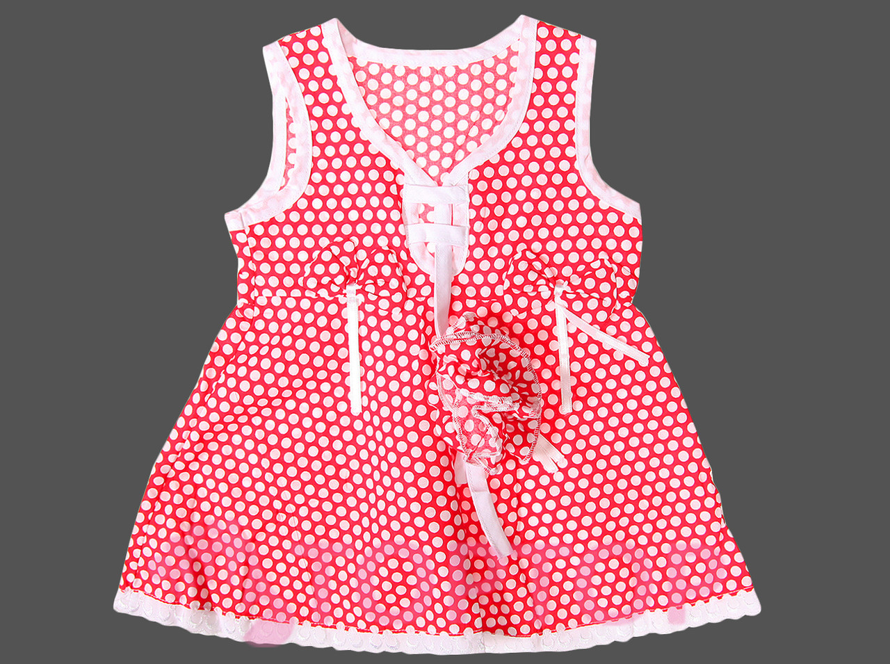 Сарафан с кофтой красный (1-2 года)