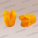 """Паперові формочки для кексів """"Фіалка"""", помаранчеві (150 шт., d=50 мм, висота бортика=60/70 мм), фото 2"""