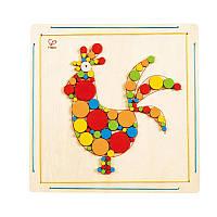 Мозаика для раскрашивания Hape Петушок (E5129)