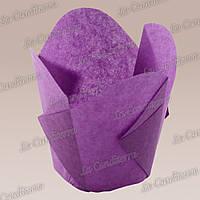 """Бумажные формочки для кексов """"Фиалка"""", пурпурные (150 шт., d=35 мм, высота бортика=35/45 мм), фото 1"""