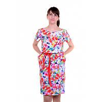 Красивое платье из приятной к телу ткани штапель, р.48 код 5091М