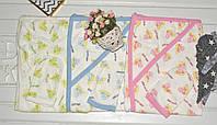 Махровое полотенце с уголком + варежка-мочалка