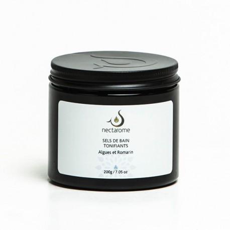 Соль для ванн с эфирным маслом розмарина и водорослями тонизирующая  Nectarome