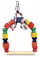 Качели Trixie Arch Swing для птиц деревянные, 20х29 см