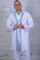 Халат для врача, белый с воротником