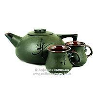 Чайный набор чайник заварочный большой 1л чашки 2*100мл керамические Стандарт 9478