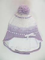 Комплект шапка с шарфом для девочки 1-2 года