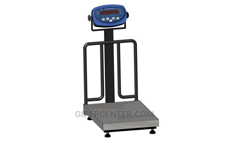 Товарные весы с ограждением для мешков BDU150C-0405 М бюджет 400х566 мм (со стойкой)