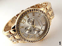 Часы женские Michael Kors золотой корпус с серебристым циферблатом, фото 1