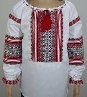 Тм Мальва Вышиванка для девочки красно черная
