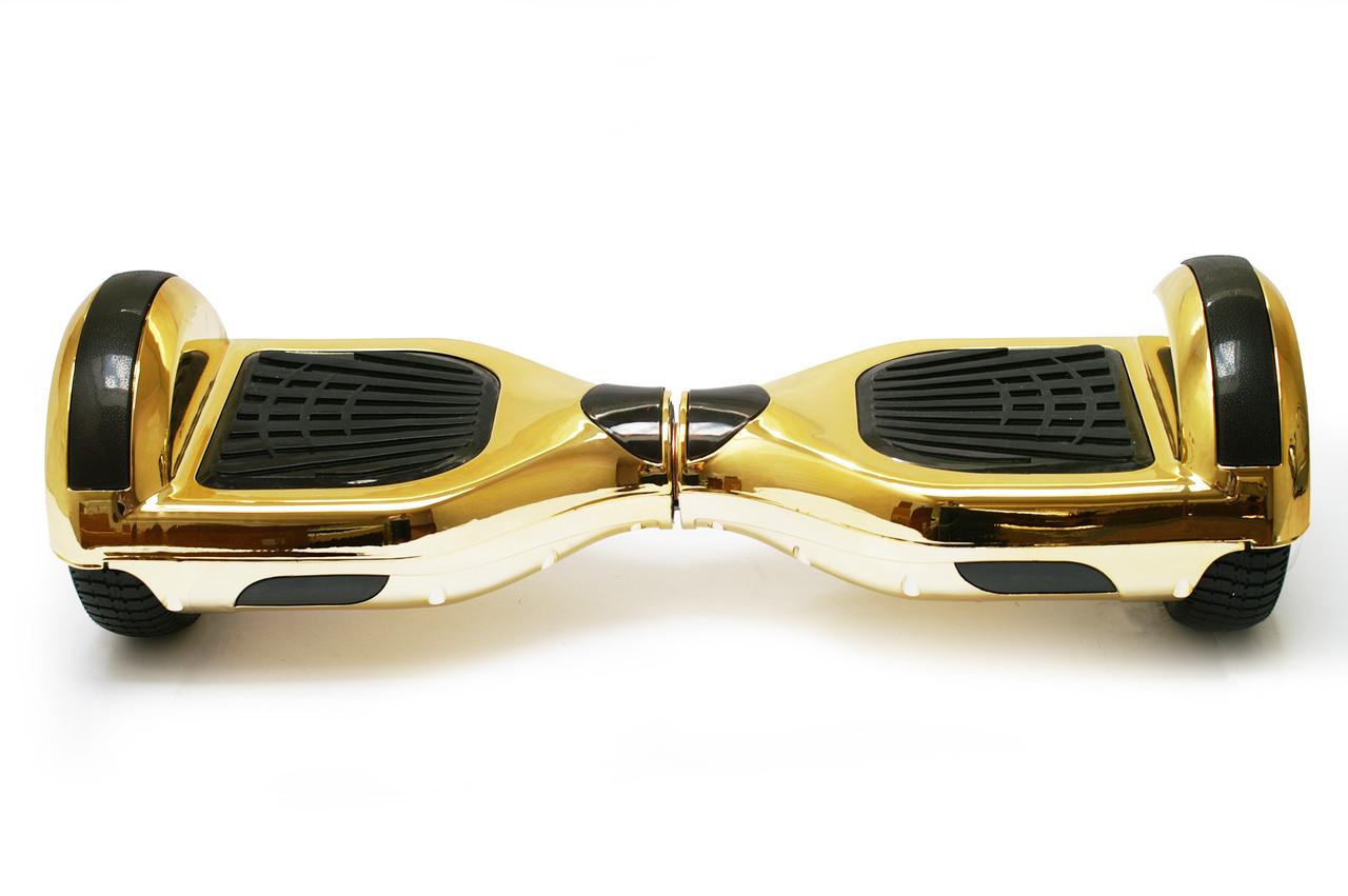 Гироборд 6,5 гироскутер сигвей с Bluetooth и колонками Chrome Gold с пультом