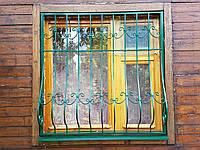 Решетка на окно с ковкой выгнутая, фото 1