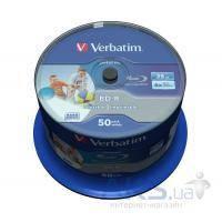 Диск Verbatim BD-R 25Gb 6x Cacke 50шт Wide Inkjet Printable SL Datalife (43812)
