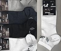 Носки мужские спортивные х/б с сеткой Adidas, Sport Socks, 41-45 размер, короткие, ассорти, 534