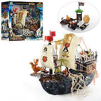 Детский игровой набор Корабль пиратов 50838D, 40см, лодка, вышка, пушка, фигурки 4шт