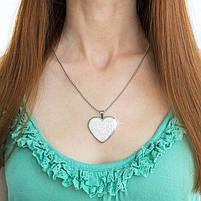 Кулон Сердце с множеством фианитов Арт. PD060SL, фото 4