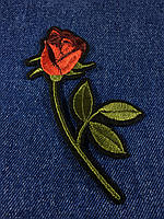 Нашивка Роза 1 бутон 70x120 мм