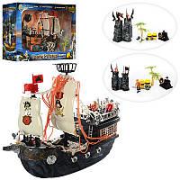 Детский игровой набор Корабль пиратов 50878C, 40-14-34см, замок 26см, фигурки 4шт, пушка, в кор-ке, 60-39,5-20