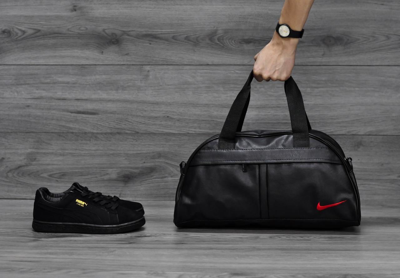 Спортивная сумка Nike (Найк), красный логотип