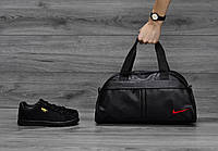 Спортивная сумка Nike (Найк), красный логотип, фото 1