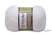 Турецкая пряжа акрил 100% YarnArt Super Prlee белый №150