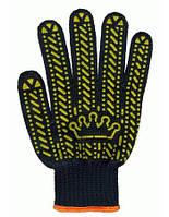 Перчатки рабочие трикотажные с ПВХ точкой  Корона, фото 1