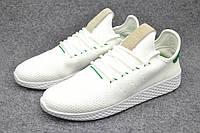 Кроссовки мужские Adidas Pharrell Williams Tennis Hu white-green, фото 1