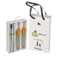 Подарочный парфюмерный набор с феромонами Burberry Weekend for Women (Барбери Викенд фо Вумен) 3x15 мл