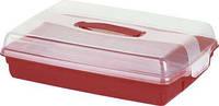 Контейнер для пищевых продуктов с крышкой прозрачный/красный CHEF@HOME GRAND CHEF Curver 172568