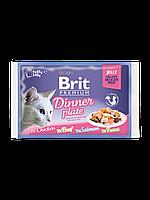 Консервы Brit Premium Cat Pouch для кошек, 4 х 85 гр