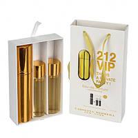 Подарочный парфюмерный набор с феромонами Carolina Herrera 212 VIP (Каролина Хирерра 212 Вип) 3x15 мл