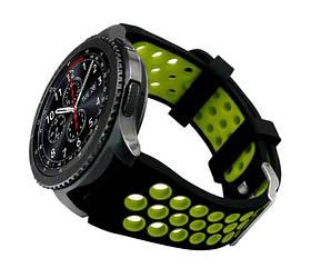 Спортивний ремінець з перфорацією Primo для годин Samsung Gear S3 Classic SM-R770 / Frontier RM-760 Black&Green
