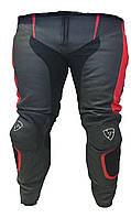 Мотобрюки Revit Replica кожа черный красный, 56