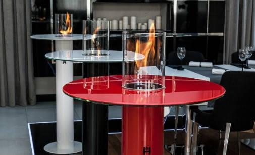 Биокамин столик (экокамин) HITZE Ignis красный, фото 2