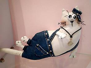 Мягкая игрушка Handmade Кот в кепке, фото 2