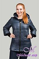 Женская демисезонная куртка в горошек (р. 48-54) арт. Люся