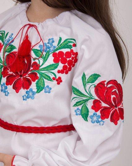 Вышиванка блуза для девочки Казка