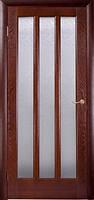 Двери ТРОЯНА Витраж Дуб Тон со стеклом