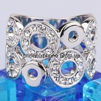 Шикарное кольцо с кристаллами Swarovski, покрытое платиной (109460)