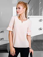 Жіноча однотонна персикова блузка Nina (S,L,XL)