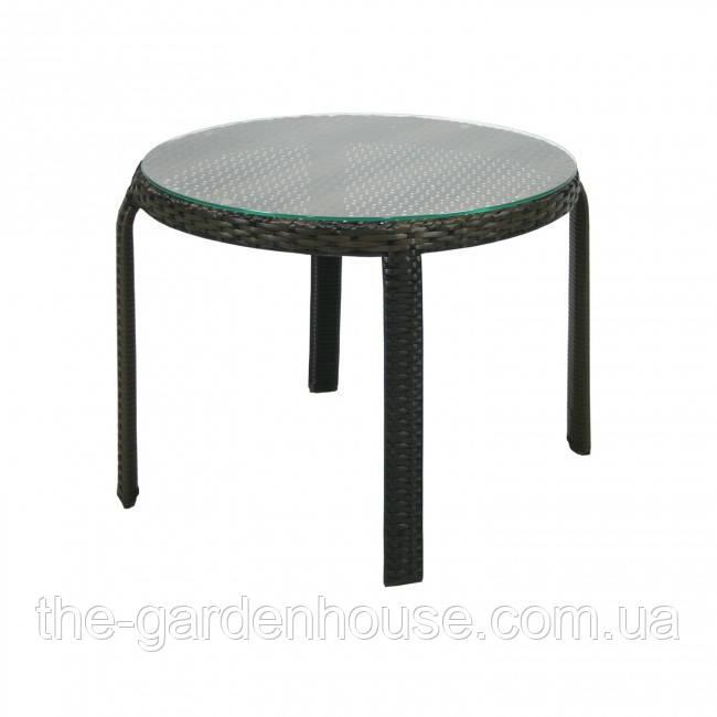 Приставний столик Wicker з штучного ротанга коричневий