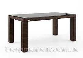 Стол обеденный Rapallo Modern из искусственного ротанга 160 см коричневый